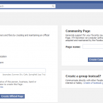 Image of Facebook business page
